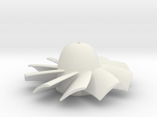28mm 10 Blade rotor for 1mm diameter shaft 3d printed