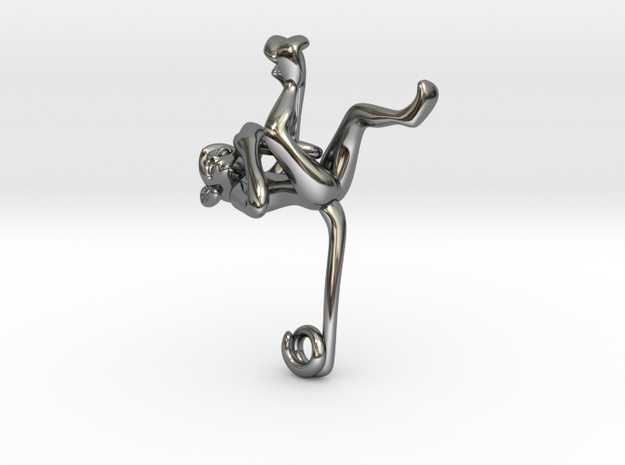 3D-Monkeys 114 in Fine Detail Polished Silver