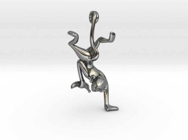 3D-Monkeys 150 in Fine Detail Polished Silver