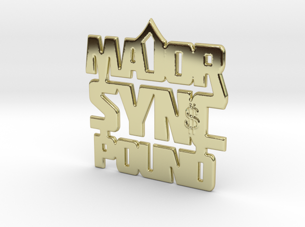 MAJOR Sync Pound 4.20 in 18k Gold Plated