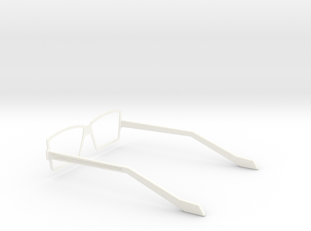 Glasses - Type3 in White Processed Versatile Plastic