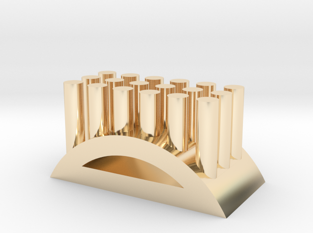 Shape toothbrush holder in 14K Yellow Gold