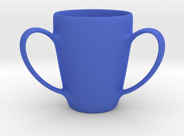 Coffee mug #2 - 3 Handles in Blue Processed Versatile Plastic