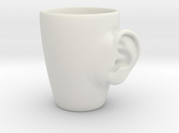 Coffee mug #3 - Real ear in White Natural Versatile Plastic