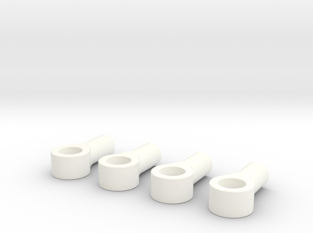 045015-01 2.4mm threaded eyelet with 4mm hole in White Processed Versatile Plastic