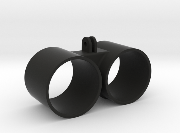 Double Gauge Holder Go Pro Mounted - 52mm  in Black Natural Versatile Plastic