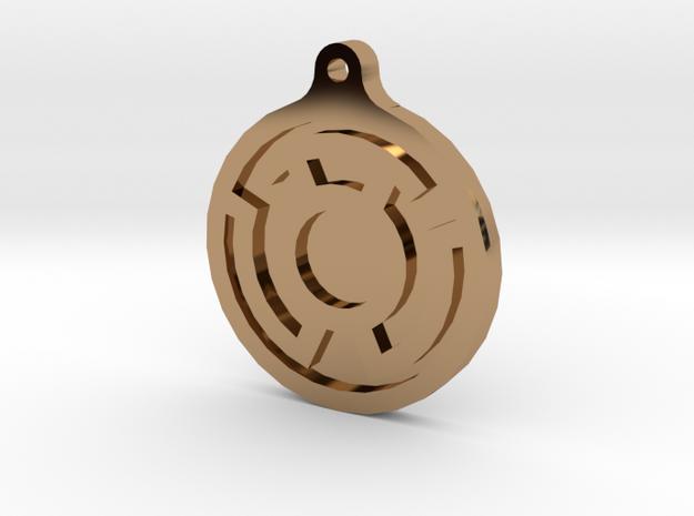 Yellow Lantern Key Chain 3d printed