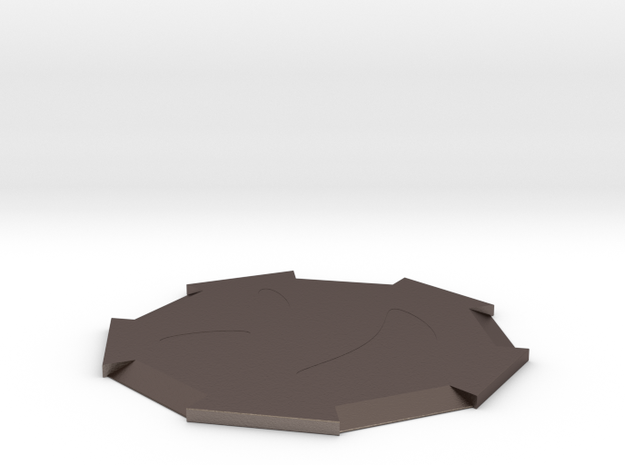 Lovely coasters in Polished Bronzed Silver Steel