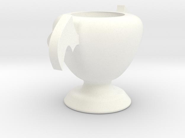 燭台.stl in White Strong & Flexible Polished
