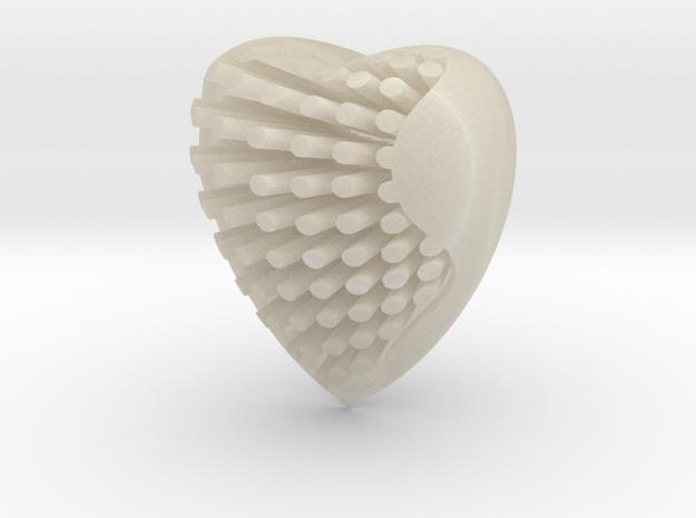Heart in White Acrylic