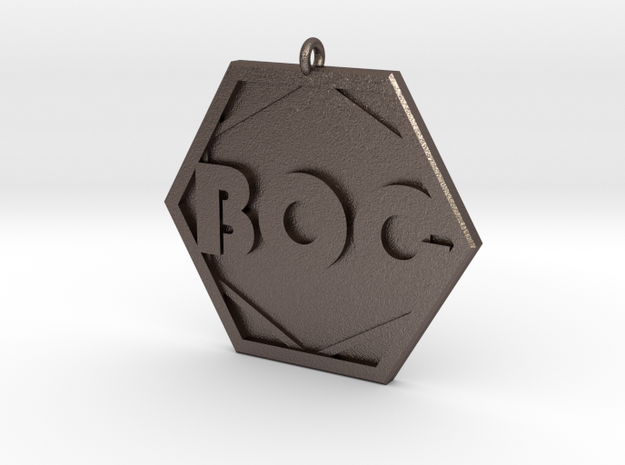 Boards of Canada BOC Pendant in Polished Bronzed Silver Steel