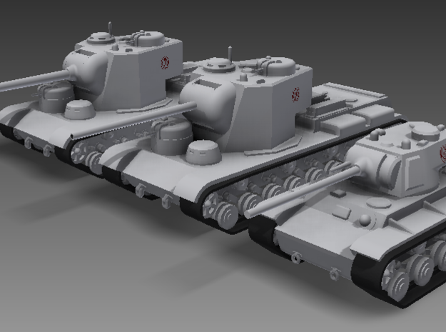 1/100 KV-5 3d printed The KV-5-122, KV-5-107, and Rhunnish T-12-90