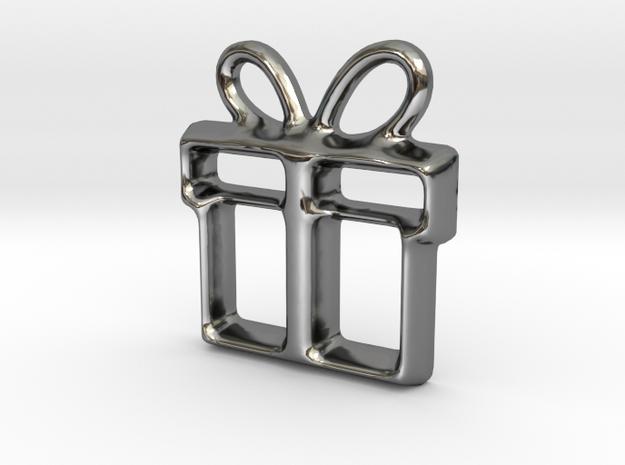 Present Pendant in Premium Silver