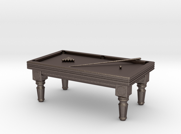 Billiards in Polished Bronzed Silver Steel
