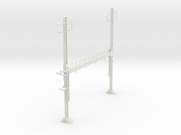 PRR BEAM SIGNAL 4  BRIDGE 2 PHASE 87 in White Natural Versatile Plastic