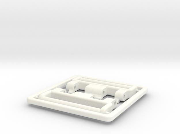 24mm G-Shock G-9000 Mudman NATO/ZULU adapter in White Processed Versatile Plastic