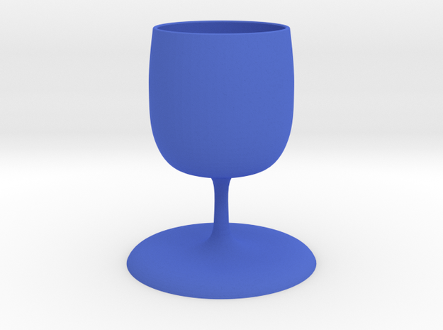 goblet in Blue Strong & Flexible Polished
