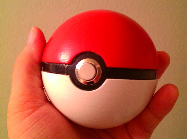 Opening Pokeball in White Processed Versatile Plastic