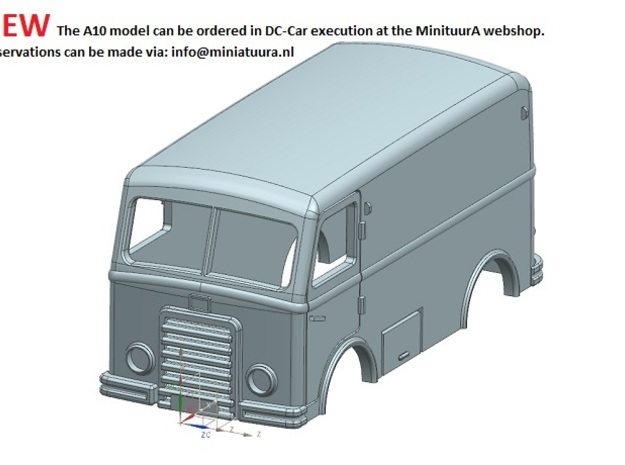 DAF A10 body in Smooth Fine Detail Plastic