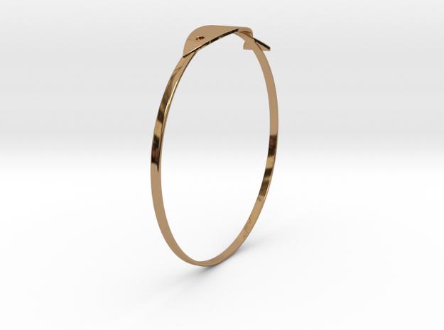 魚手環 in Polished Brass