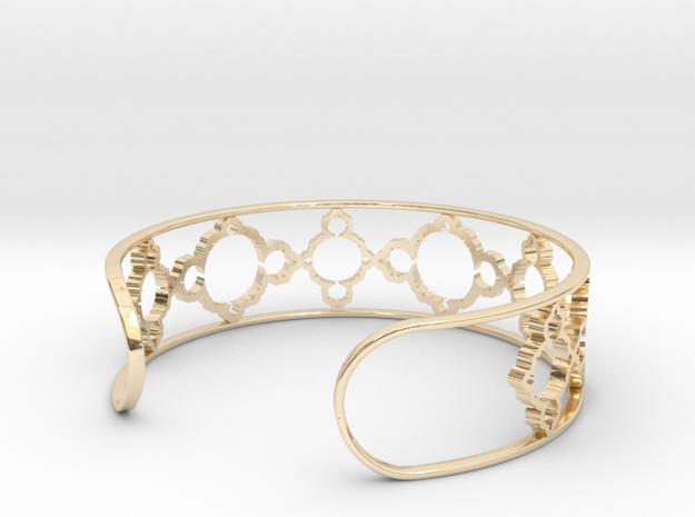 Mandelbrot Due Bracelet 7in (18cm) in 14k Gold Plated Brass