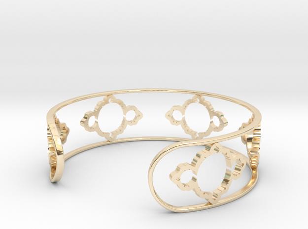 Mandelbrot Light Bracelet 7in (18cm) in 14k Gold Plated Brass