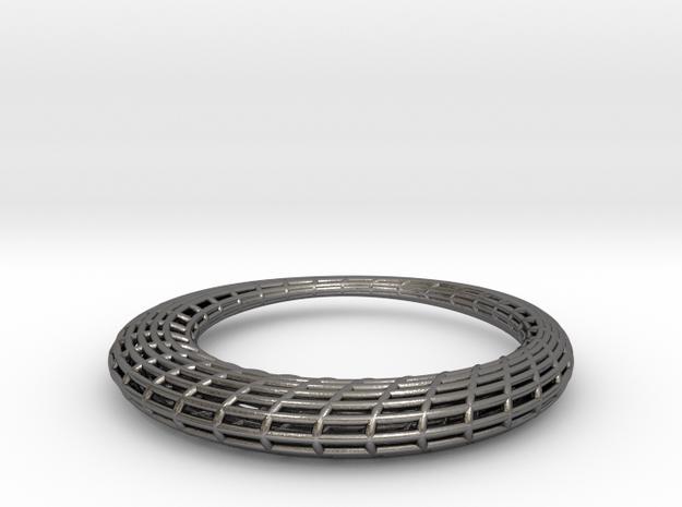 Elliptic Mesh pendant in Polished Nickel Steel