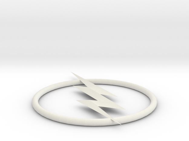 Reverse Flash Emblem in White Strong & Flexible