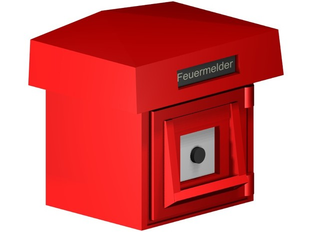Feuermelder  in Smooth Fine Detail Plastic