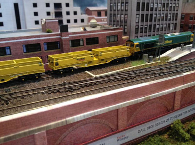 N Gauge MRA Wagon set in Smooth Fine Detail Plastic