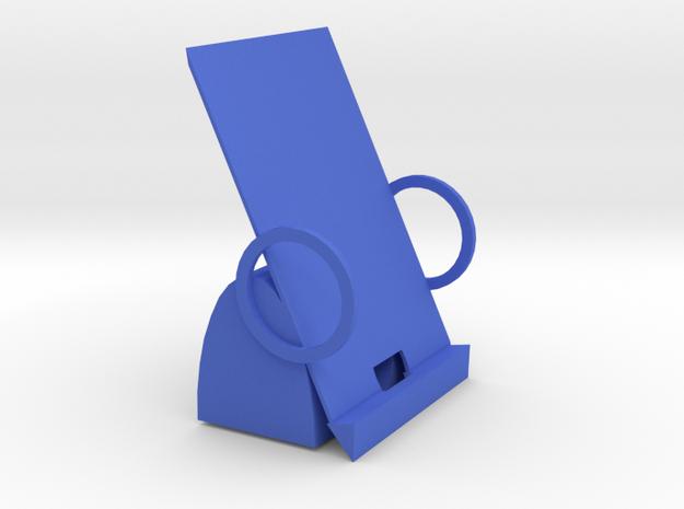 104102234 黃偉豪 現代造型手機架 in Blue Strong & Flexible Polished