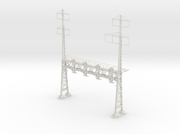 HO Scale PRR W-signal LATTICE 4 Track  W 2-3 PHASE in White Strong & Flexible