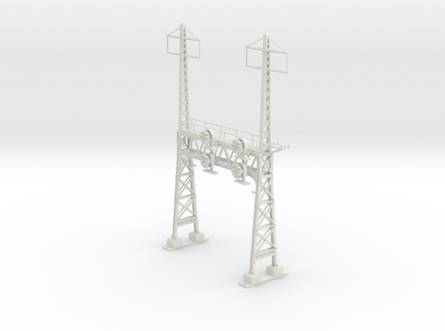 HO Scale PRR W--signal LATTICE 2 Track  W 2 PHASE  in White Strong & Flexible