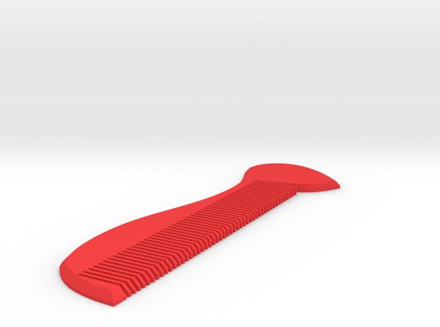 豆芽梳子 Bean Sprouts Comb in Red Strong & Flexible Polished