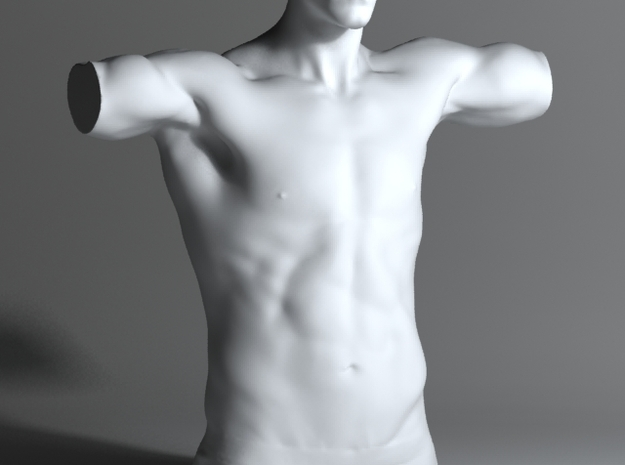 Man Body Part 004 scale in 4cm