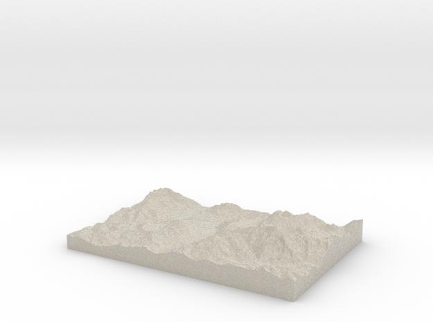Model of Saint-Nicolas-de-Véroce in Natural Sandstone