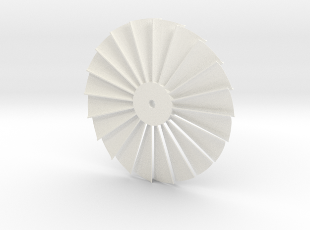 Stater Turbine in White Strong & Flexible Polished