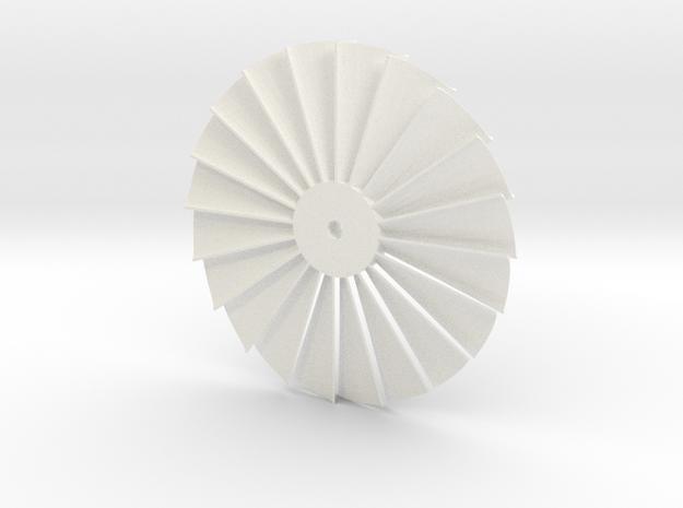Stater Turbine in White Processed Versatile Plastic