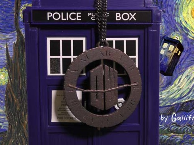 Doctor Who - Pendant in Raw Bronze