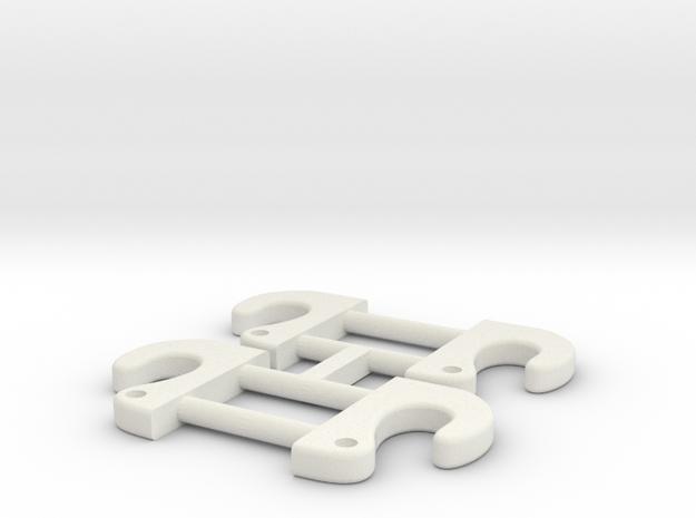 Lifting Hooks 1/16 in White Natural Versatile Plastic