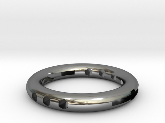 The hollow ring in Fine Detail Polished Silver