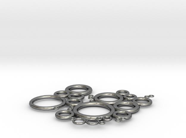 圈圈隔熱墊 in Fine Detail Polished Silver