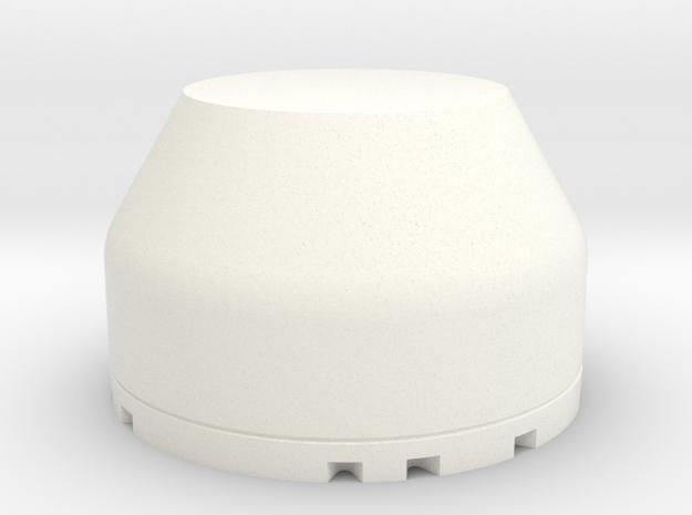 Dome in White Processed Versatile Plastic