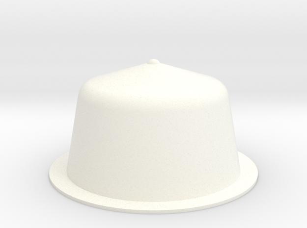 Cup in White Processed Versatile Plastic