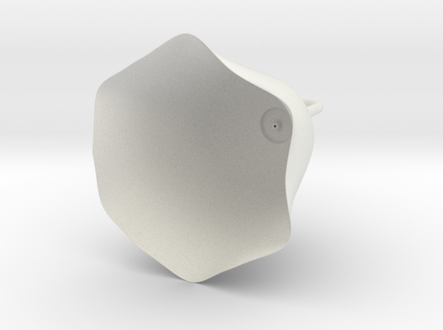 燈罩.stl in White Strong & Flexible