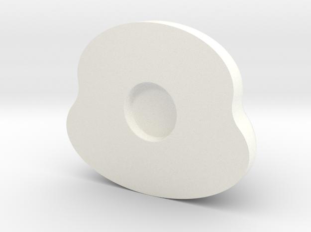 豬形瓶 in White Strong & Flexible Polished