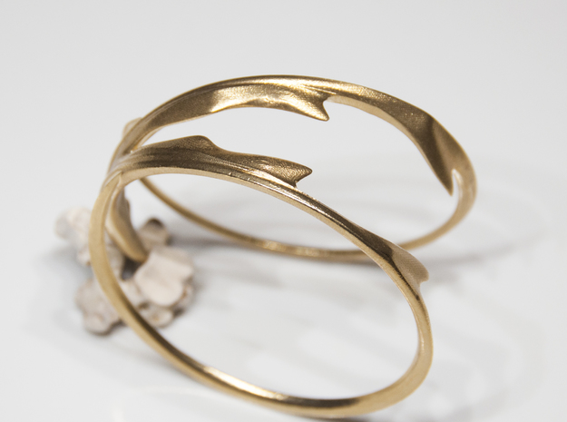 Stag Bangle in Natural Brass