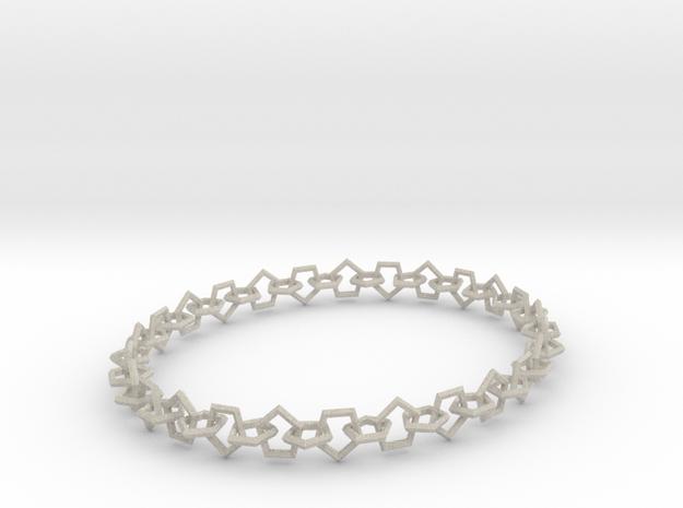 Necklace of pentagons in Sandstone