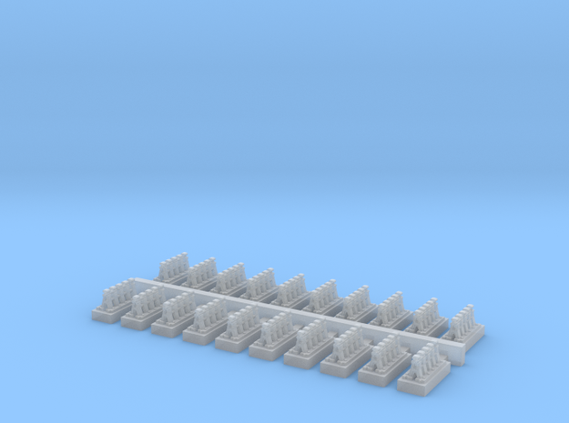 A Frames 4 x 20 - 7mm Scale in Smooth Fine Detail Plastic