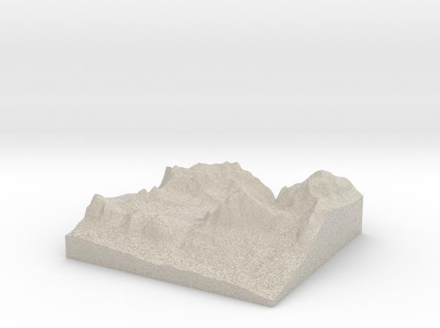 Model of Tofana di Rozes in Natural Sandstone
